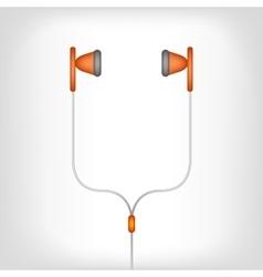 White earphones vector