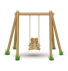 Wood swing vector