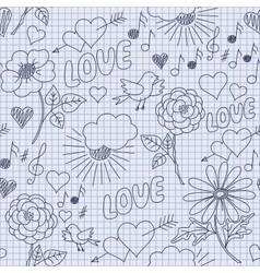 Hand-drawn funny seamless pattern vector