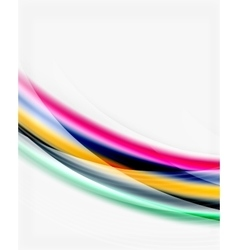 Smooth silk wave template vector