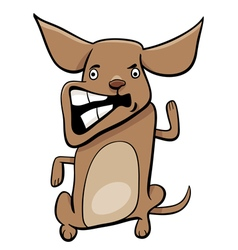 Angry puppy cartoon character vector