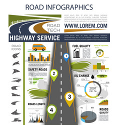 Road infographics for presentation design vector