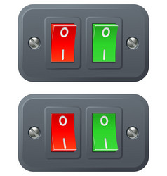 Red and green switches vector