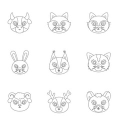 Wild and domestic animals a set of pictures about vector