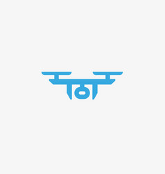 Drone sky viewer logo design template vector