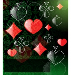 Vector abstract play card background vector