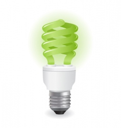 Ecological light bulbs icon vector