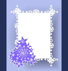 Frame christmas tree vector