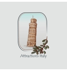 Italy country label vector