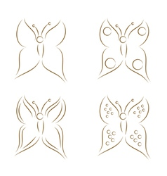 Butterflies sketch vector