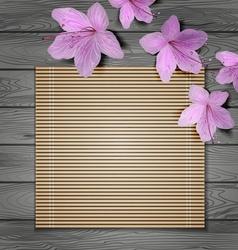 Tropical Wooden Background Design vector image