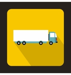 Cargo delivery truck icon flat style vector