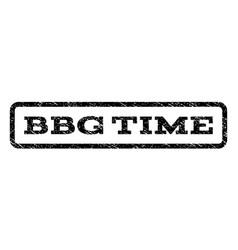 Bbg time watermark stamp vector