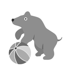 Bear Performing vector image