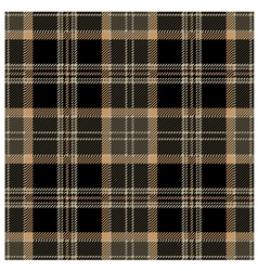 Black seamless tartan plaid design vector