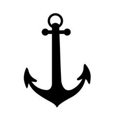 black silhouette anchor icon design vector image