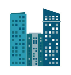 Building urban skyscraper residential vector