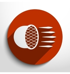 Car headlight flat icon vector image