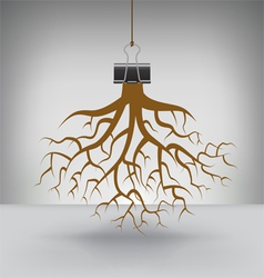 Clip Roots vector image