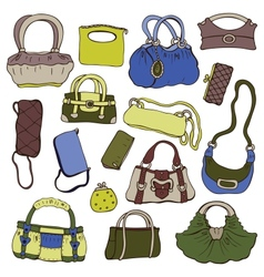 Collection womens handbags vector