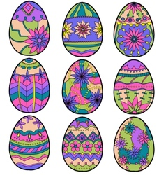 colorful eggs vector image