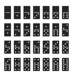 Dominos bones set 28 pieces for game - isolated vector image