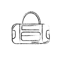 Figure sport bag to save the clohes vector