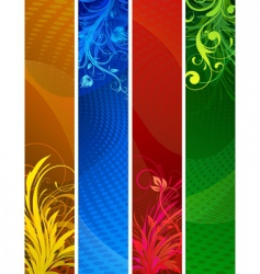 floral decorative banners vector image