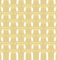Greek column seamless pattern background of vector