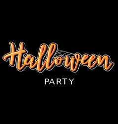 halloween lettering with web vector image vector image