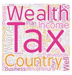 How Wealth Tax Is Better Than Income Tax text vector image