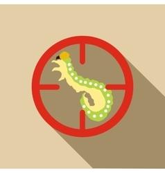 Larva icon flat style vector
