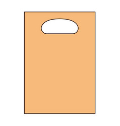 paper bag icon with handle in colorful silhouette vector image vector image