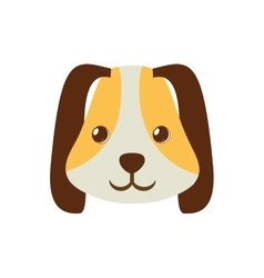 Puppy face ear long brown pet vector
