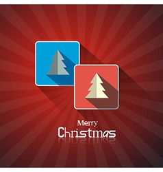 Retro Abstract Merry Christmas Background vector image