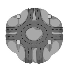 Road single icon in monochrome styleroad vector