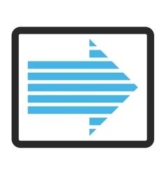 Stripe arrow right framed icon vector