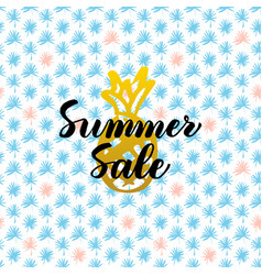 Summer sale card design vector