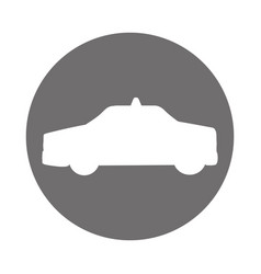 taxi car silhouette icon vector image