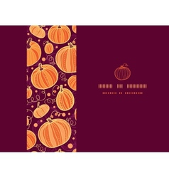 Thanksgiving pumpkins horizontal frame seamless vector image vector image