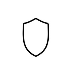 thin line security shield icon vector image