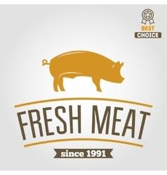 Vintage labels logo emblem templates of butchery vector