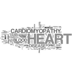 What is cardiomyopathy text word cloud concept vector