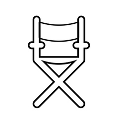 Directors chair icon cinema design vector