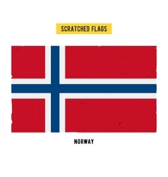 Norwegian grunge flag with little scratches on vector