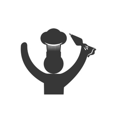 Chefs hat chef pictogram silhouette icon vector