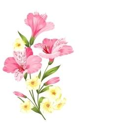 Floral garland card vector