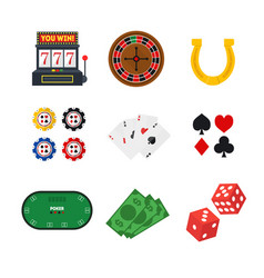Cartoon casino set vector