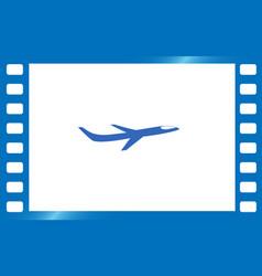 Travel the world plane icon vector