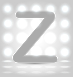 Z over lighted background vector